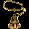 Brass Ship Bell Keychain