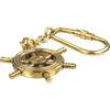 Brass Ship Wheel Keychain