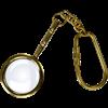 Brass Magnifying Glass Keychain