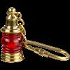 Brass Lantern Keychain - Red