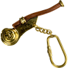 Brass Boatswain Whistle Keychain