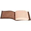 Small Leather Covered Pocket Journal