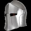 Visored Barbuta Helmet - Polished