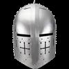 Gothic Knight Helmet - Polished