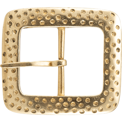 Hammered Square Brass Buckle
