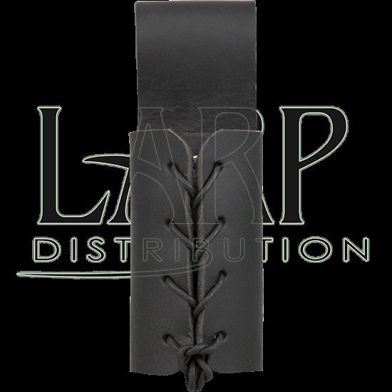 Leather Dagger Frog - Black