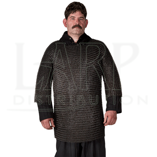 Blackened Butted Chainmail Haubergeon