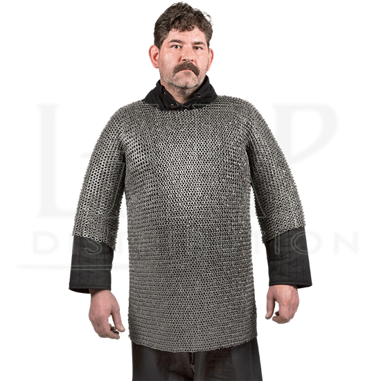 Round Ring Round Riveted Chainmail Haubergeon