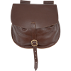 Adventurers Leather Flap Bag - Brown