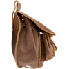 Leather Pouch with Pockets - Brown