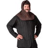 Medieval Padded Coif - Brown