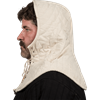 Medieval Padded Coif - Ecru