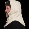 Medieval Padded Mantle - Ecru