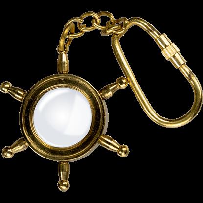 Brass Sailor's Wheel Keychain