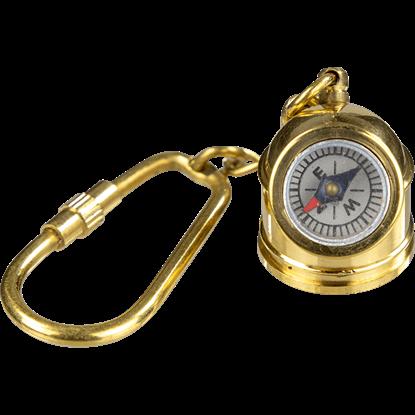 Brass Diving Helmet Compass Keychain