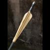 Black and Gold LARP Arrow - Round Tip