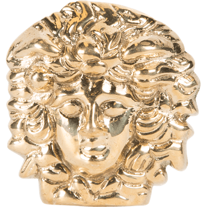 Brass Medusa Adornment