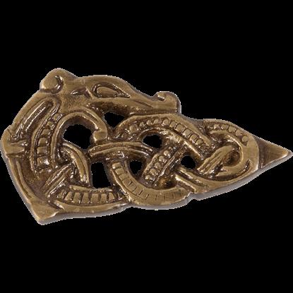 Brass Viking Belt Tip