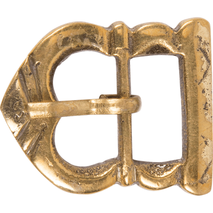 Medieval Strap Buckle with Belt Keeper