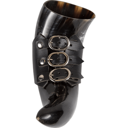 Skarde Norse Drinking Horn with Holder