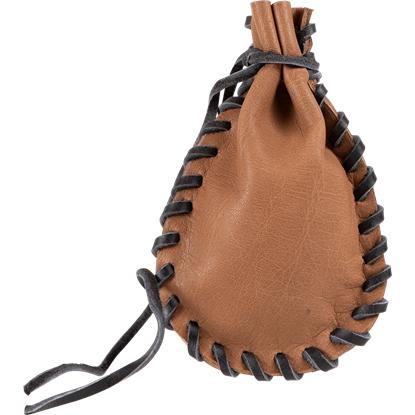 Small Laced Leather Pouch