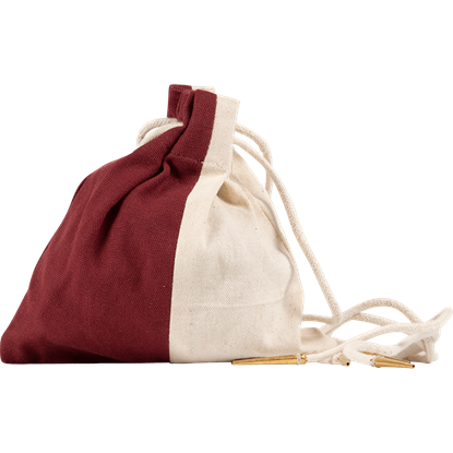 Two Color Cotton Drawstring Pouch