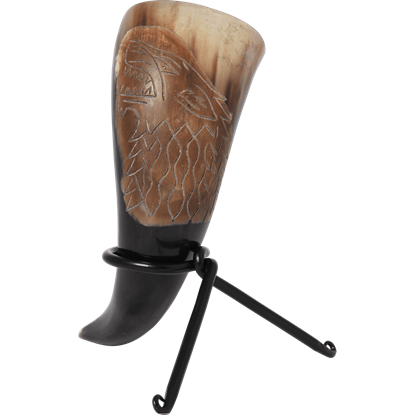 Direwolf Drinking Horn with Stand