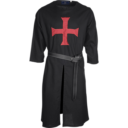 Black with Red Cross Templar Tunic