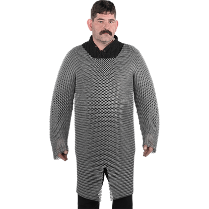 Aluminum and Rubber Long Sleeve Chainmail Hauberk