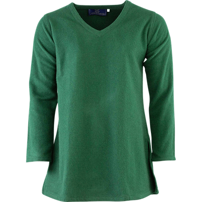 Long Sleeve Wool Tunic - Green