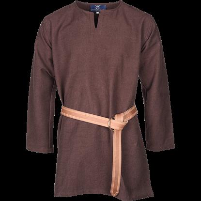 Long Sleeve Viking Tunic - Brown
