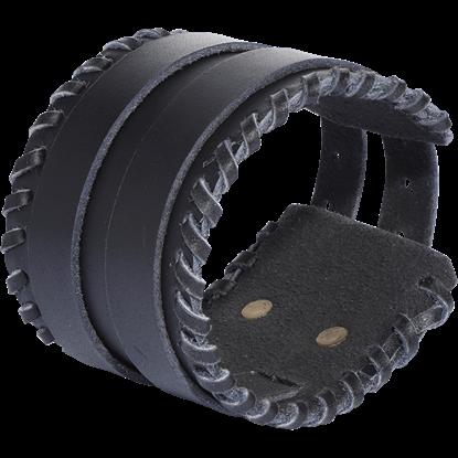 Buckled Leather Bracelet - Black