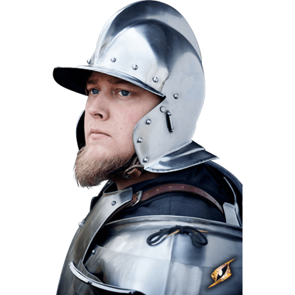 Burgonet Helmet - Polished Steel