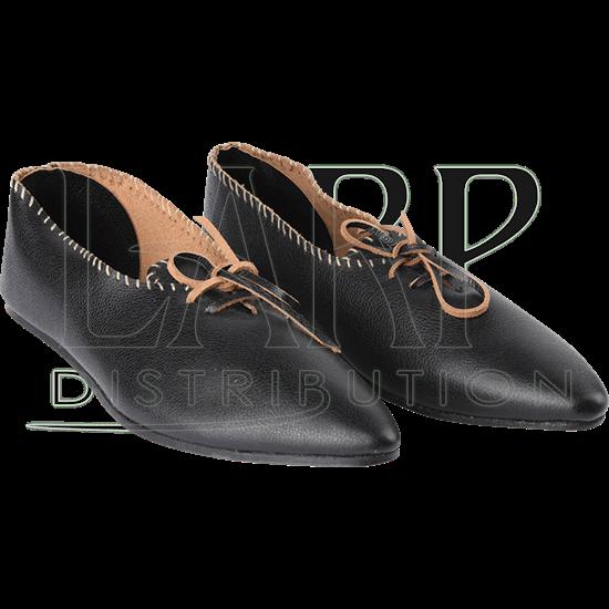 Black Medieval Peasant Shoes