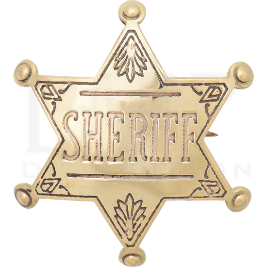 Brass Western Sheriff Badge