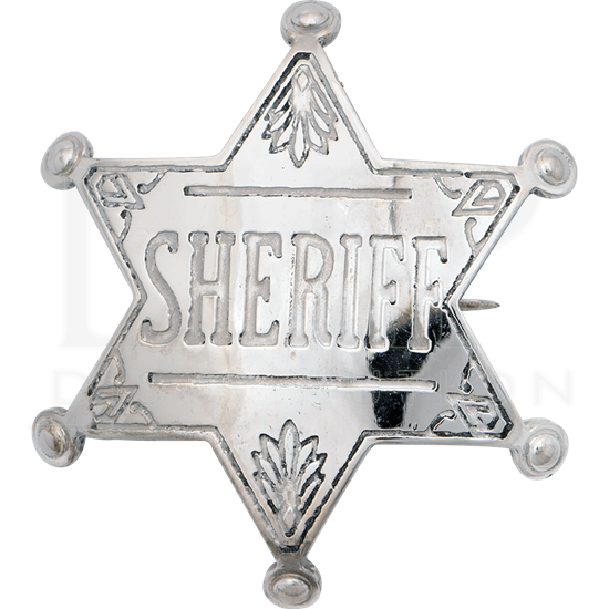 Nickel Western Sheriff Badge