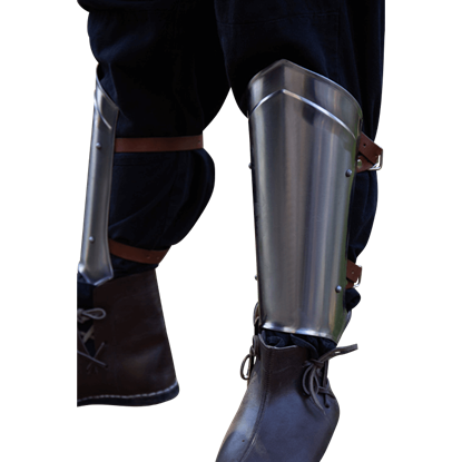 Scout Leg Guards - Polished Steel